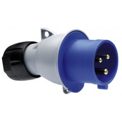 Вилка ABB 216-P6 синий 16A 2P+E IP44