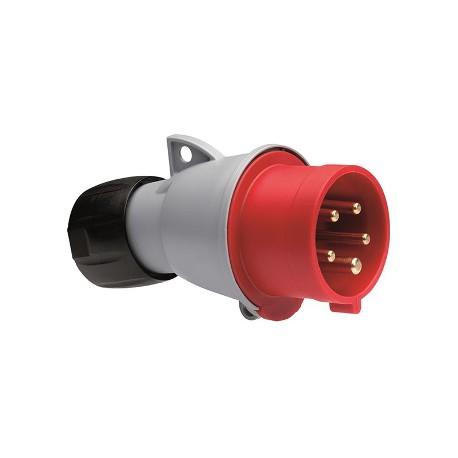 Вилка ABB 416-P6 красный 16A 3P+N+E IP44