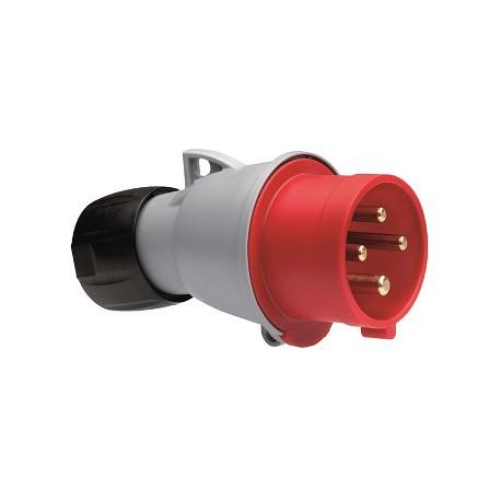 Вилка ABB 316-P6 красный 16A 3P+E IP44