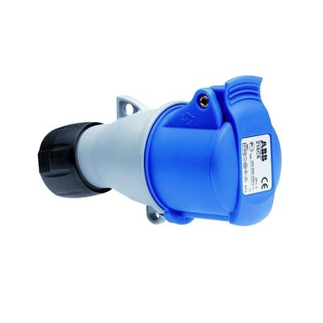 Розетка ABB 216-C6 синий 16A 2P+E IP44
