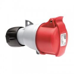 Розетка ABB 316-C6 красный 16A 3P+E IP44