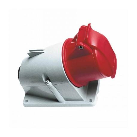 Розетка ABB 432RS6 красный 32A 3P+N+E IP44