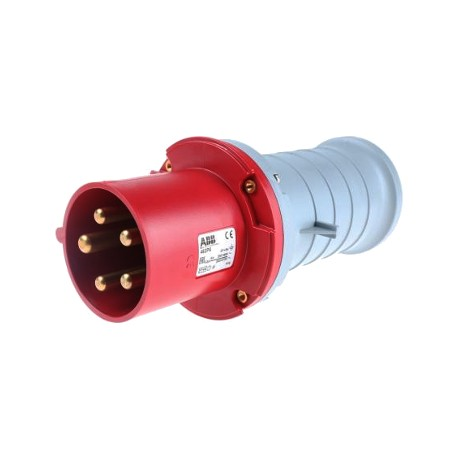 Вилка ABB 463P6 красный 63A 3P+N+E IP44