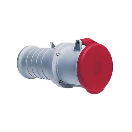Розетка ABB 363C6 красный 63A 3P+E IP44