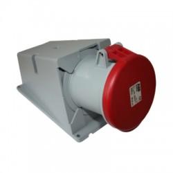 Розетка ABB 463RS6 красный 63A 3P+N+E IP44