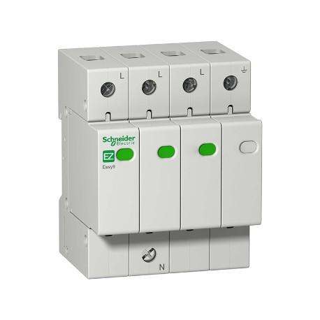 Ограничитель напряжения Schneider Electric EASY9 3P+N 45kА 400В
