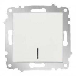 ABB Выключатель одноклавишный с подсветкой белый Cosmo