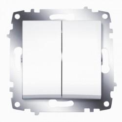 ABB Выключатель двухклавишный белый Cosmo