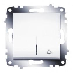 ABB Выключатель кнопочный с подсветкой белый Cosmo