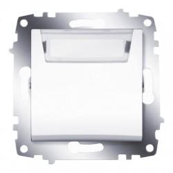 ABB Выключатель кнопочный с полем для надписи белый Cosmo