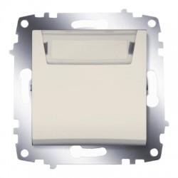 ABB Выключатель кнопочный с полем для надписи крем Cosmo