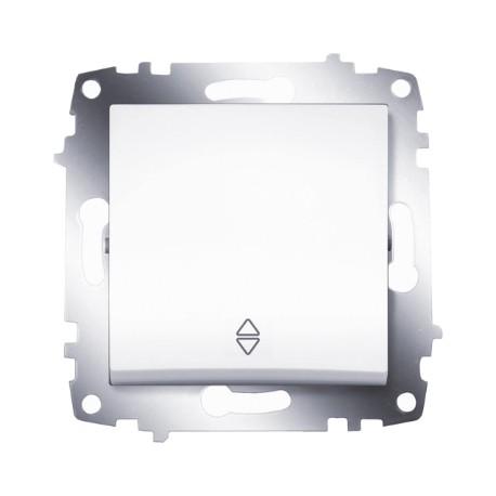 ABB Проходной переключатель одноклавишный (схема 6) белый Cosmo