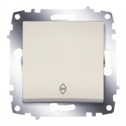 ABB Проходной переключатель одноклавишный (схема 6) крем Cosmo