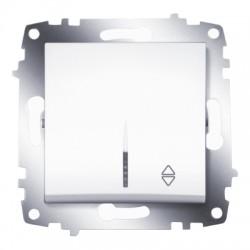 ABB Проходной переключатель одноклавишный с подсветкой (схема 6) белый Cosmo