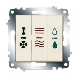 ABB Выключатель кондиционера трехклавишный крем Cosmo