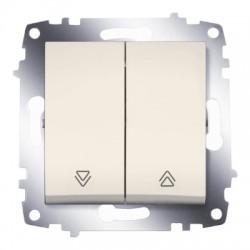 ABB Выключатель кнопочный двухклавишный для управления жалюзи крем Cosmo
