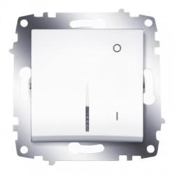 ABB Выключатель двухполюсный с подсветкой белый Cosmo