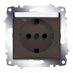 ABB Розетка с заземлением, с защитной крышкой белый Cosmo