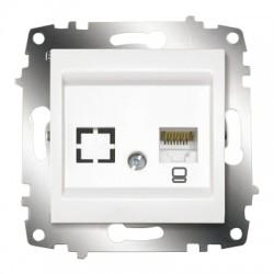 ABB Розетка информационная RJ45 CAT6 + гнездо белый Cosmo