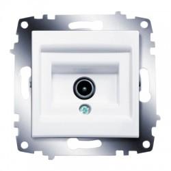 ABB Розетка TV проходная с экранированием белый Cosmo