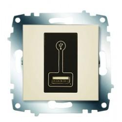 ABB Розетка зарядное устройство USB, 500 мА крем Cosmo