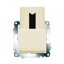 ABB Карточный выключатель с задержкой выключения крем Cosmo