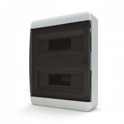 Бокc Tekfor на 24 модуля навесной IP41 прозрачная черная дверца