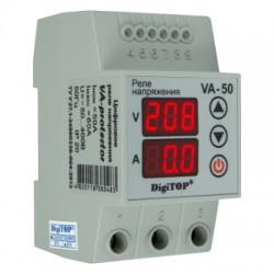 Реле напряжения DigiTOP VA-50A с контролем тока