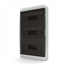 Бокc Tekfor на 36 модулей навесной IP41 прозрачная черная дверца
