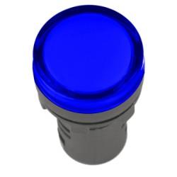 Лампа IEK AD-16DS LED матрица d16мм 24В синий