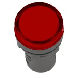 Лампа IEK AD-16DS LED матрица d16мм 24В красный