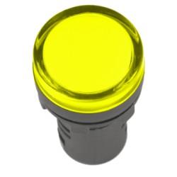 Лампа IEK AD-22DS LED матрица d22мм 230В желтый
