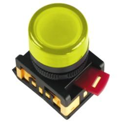 Лампа IEK AL-22TE сигнальная d22мм 230В желтый неон