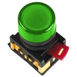 Лампа IEK AL-22TE сигнальная d22мм 230В зеленый неон