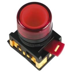 Лампа IEK AL-22TE сигнальная d22мм 230В красный неон