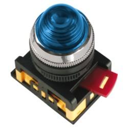 Лампа IEK AL-22 сигнальная d22мм 230В синий неон