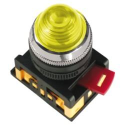 Лампа IEK AL-22 сигнальная d22мм 230В желтый неон
