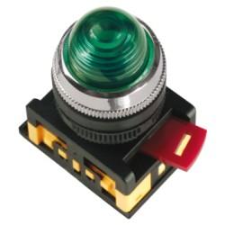 Лампа IEK AL-22 сигнальная d22мм 230В зеленый неон