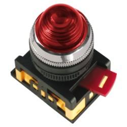 Лампа IEK AL-22 сигнальная d22мм 230В красный неон