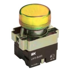 Лампа IEK LAY5-BU65 индикатор d22мм 230В желтый