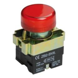 Лампа IEK LAY5-BU64 индикатор d22мм 230В красный
