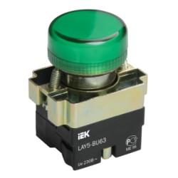 Лампа IEK LAY5-BU63 индикатор d22мм 230В зеленый
