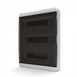 Бокc Tekfor на 54 модуля навесной IP41 прозрачная черная дверца