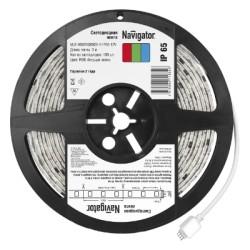 Navigator лента светодиодная NLS-5050RGBM30-5-IP65-12V RGB бегущая волна