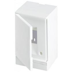 Щит ABB Basic E на 2 модуля, настенный, непрозрачная белая дверь
