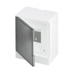Щит ABB Basic E на 2 модуля, настенный, прозрачная серая дверь