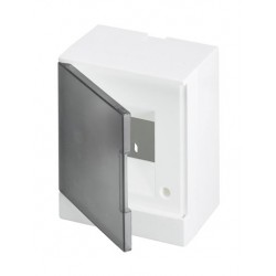 Щит ABB Basic E на 4 модуля, настенный, прозрачная серая дверь