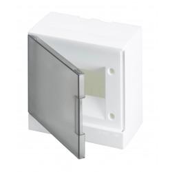 Щит ABB Basic E на 6 модулей, настенный, прозрачная серая дверь