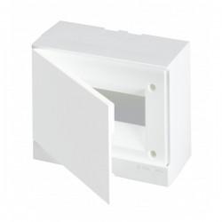 Щит ABB Basic E на 8 модулей, настенный, непрозрачная белая дверь