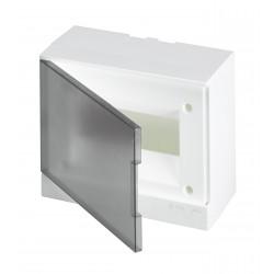 Щит ABB Basic E на 8 модулей, настенный, прозрачная серая дверь